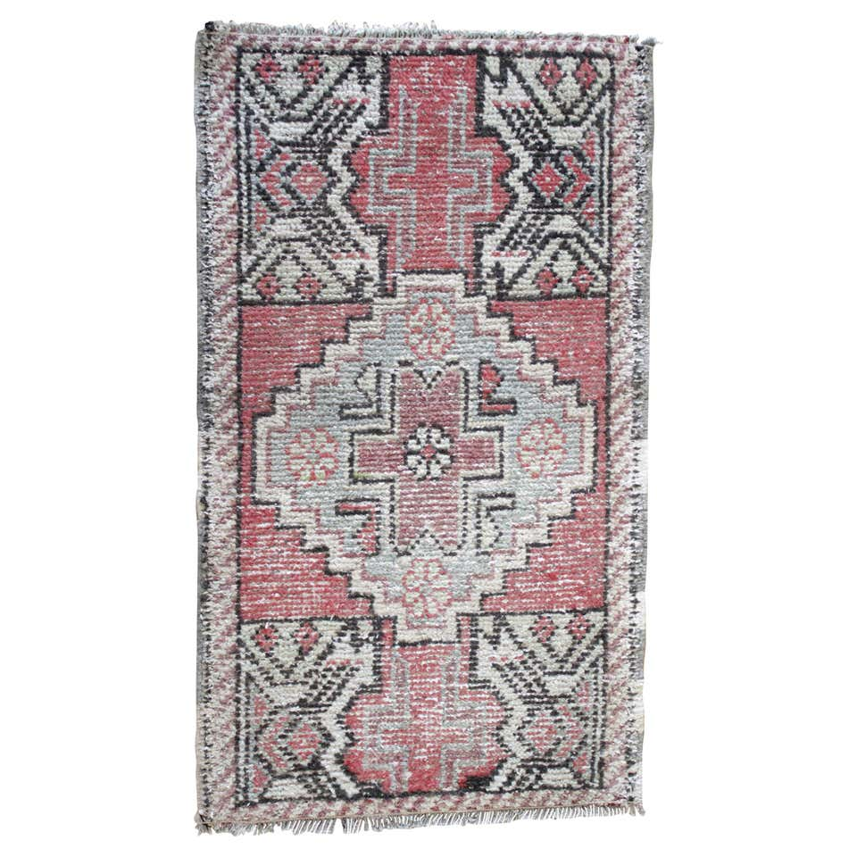 Petite Vintage Turkish Wool Rug