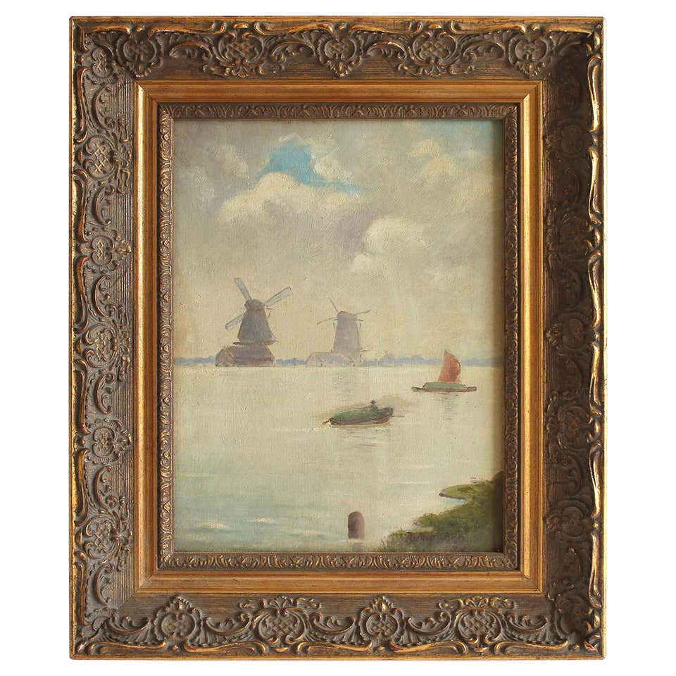 European Oil Painting by Burdett Mason