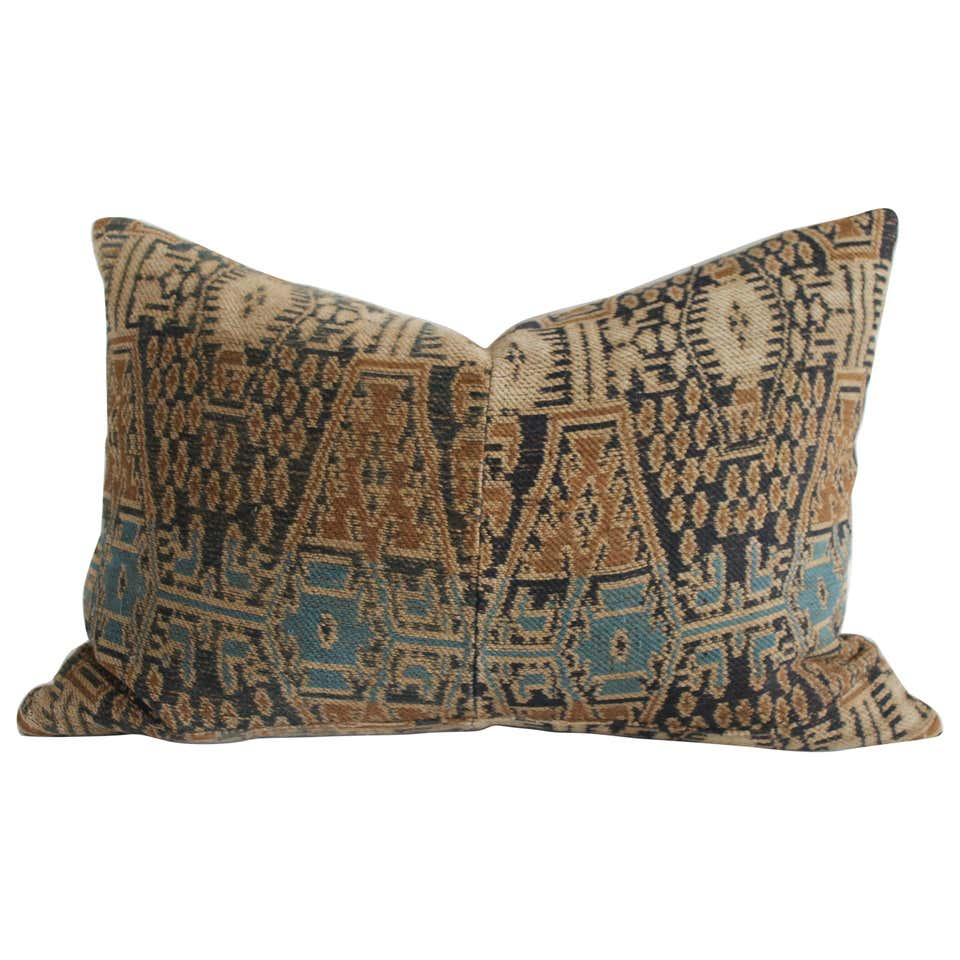 Antique Woven Textile Lumbar Pillow