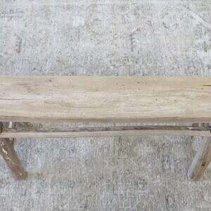 Antique Elmwood Narrow Bench