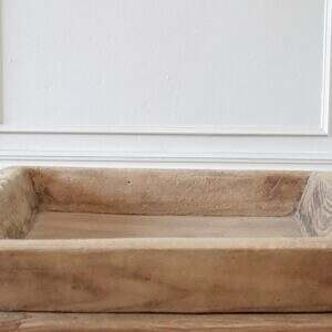 Vintage Wood Trough Decorative Bowl