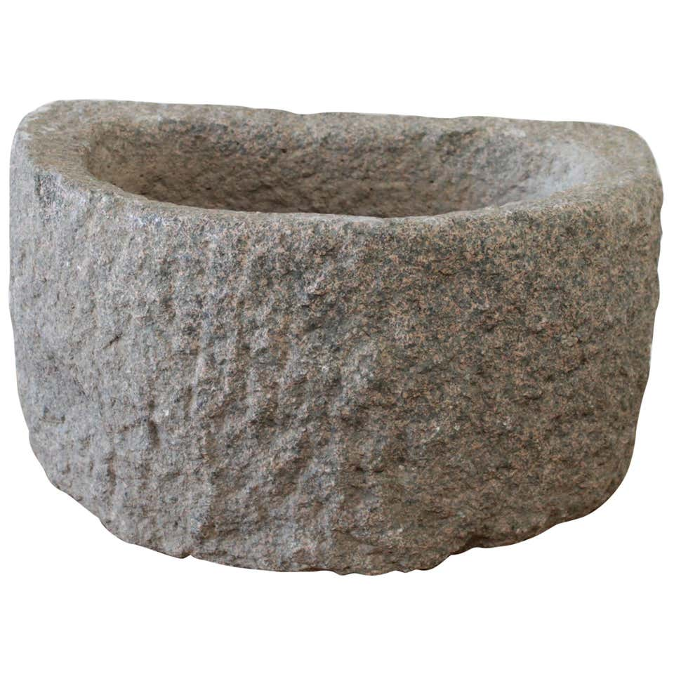 Vintage Stone Mortar Sink or Planter