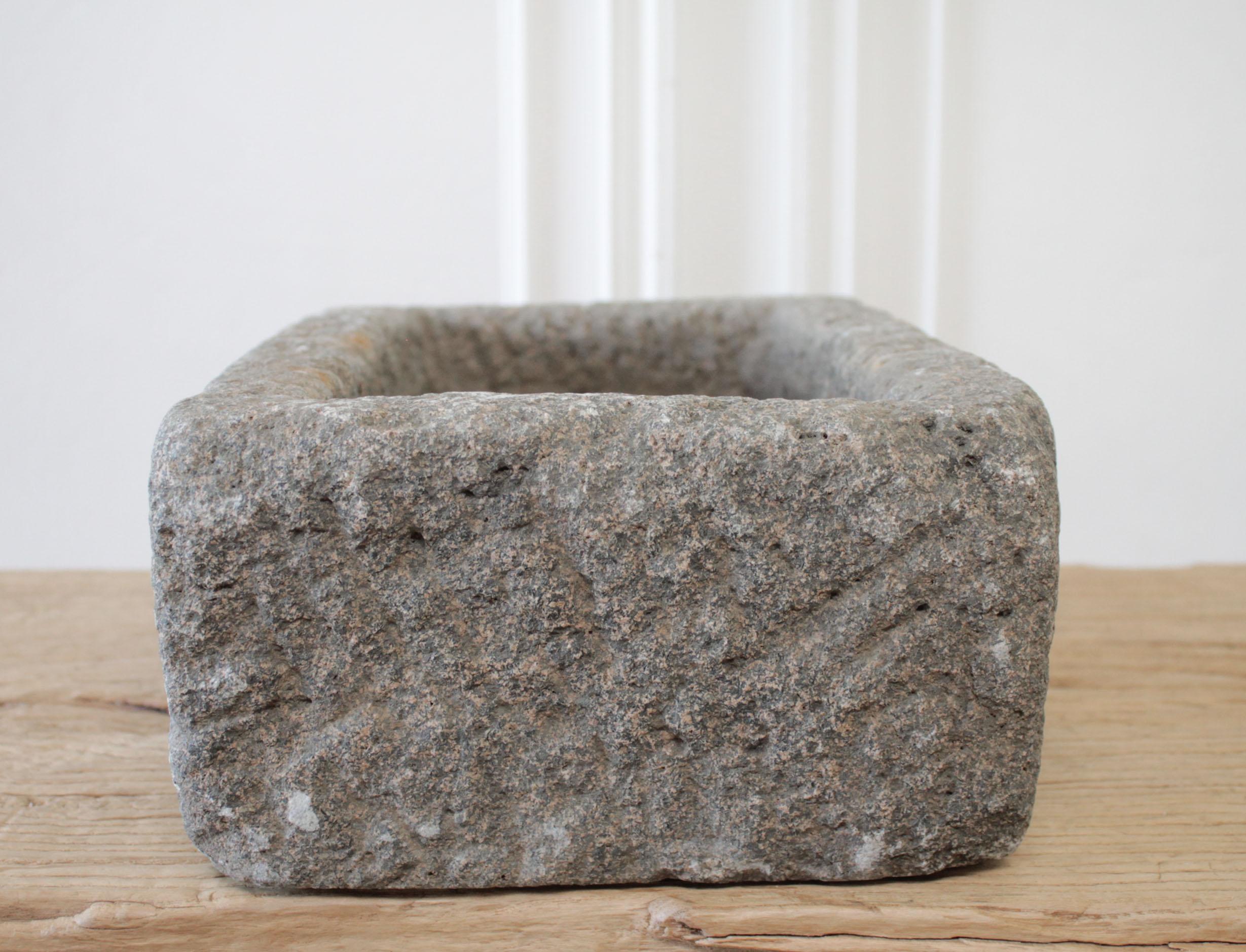 Vintage Carved Stone Mortar