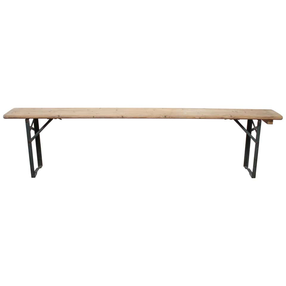 European Folding Bench with Metal Legs