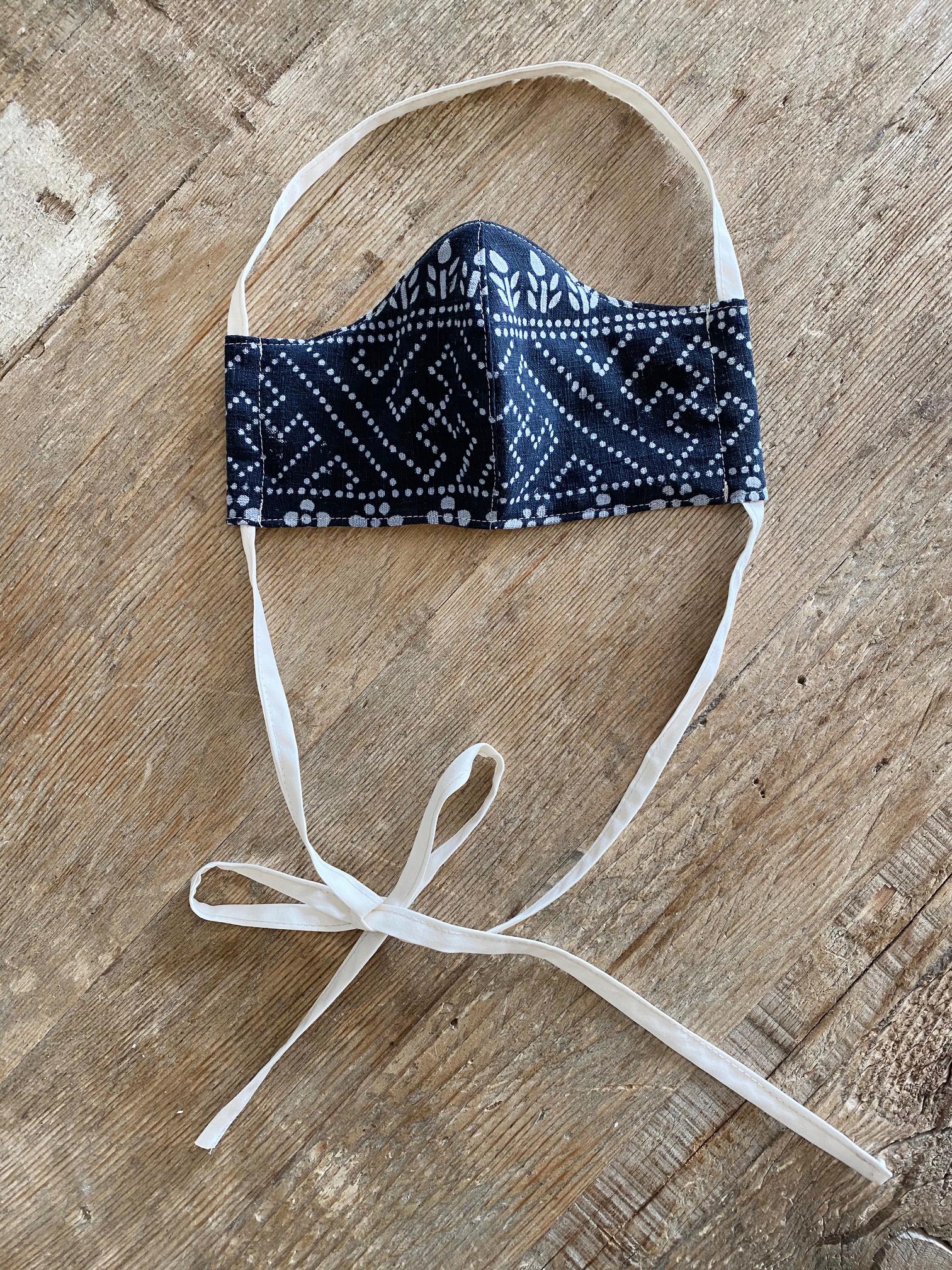 Vintage Black Batik Mask