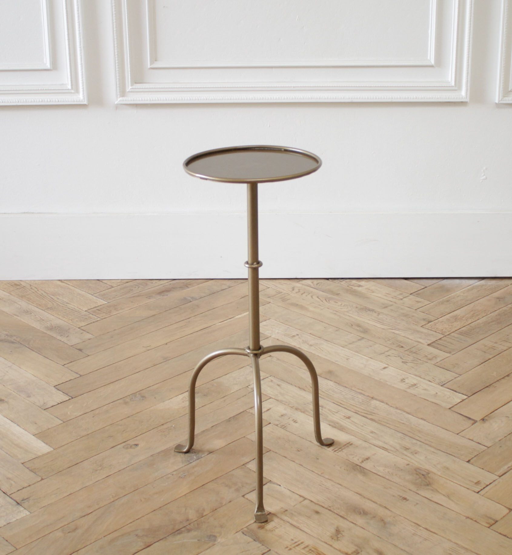 Cannes French Inspired Small Iron Drink Table in Iron Finish or Brass Finish