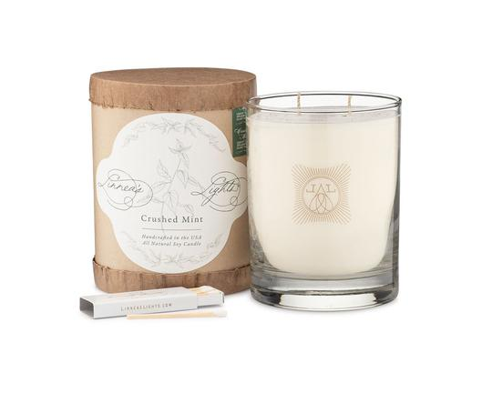 Crushed Mint Summer Garden 2-wick candle