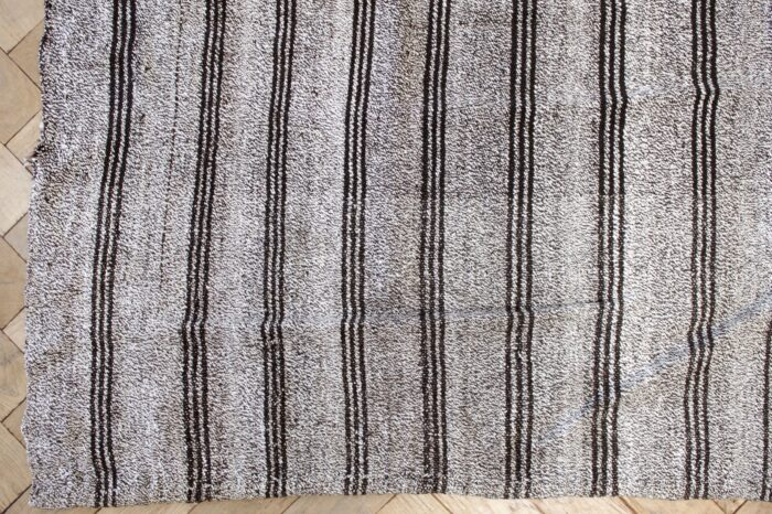 Vintage Turkish Flat-Weave Rug with Stripes