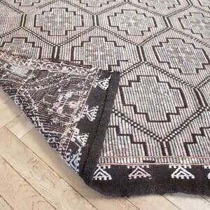 Vintage Turkish Geometric Pattern Rug