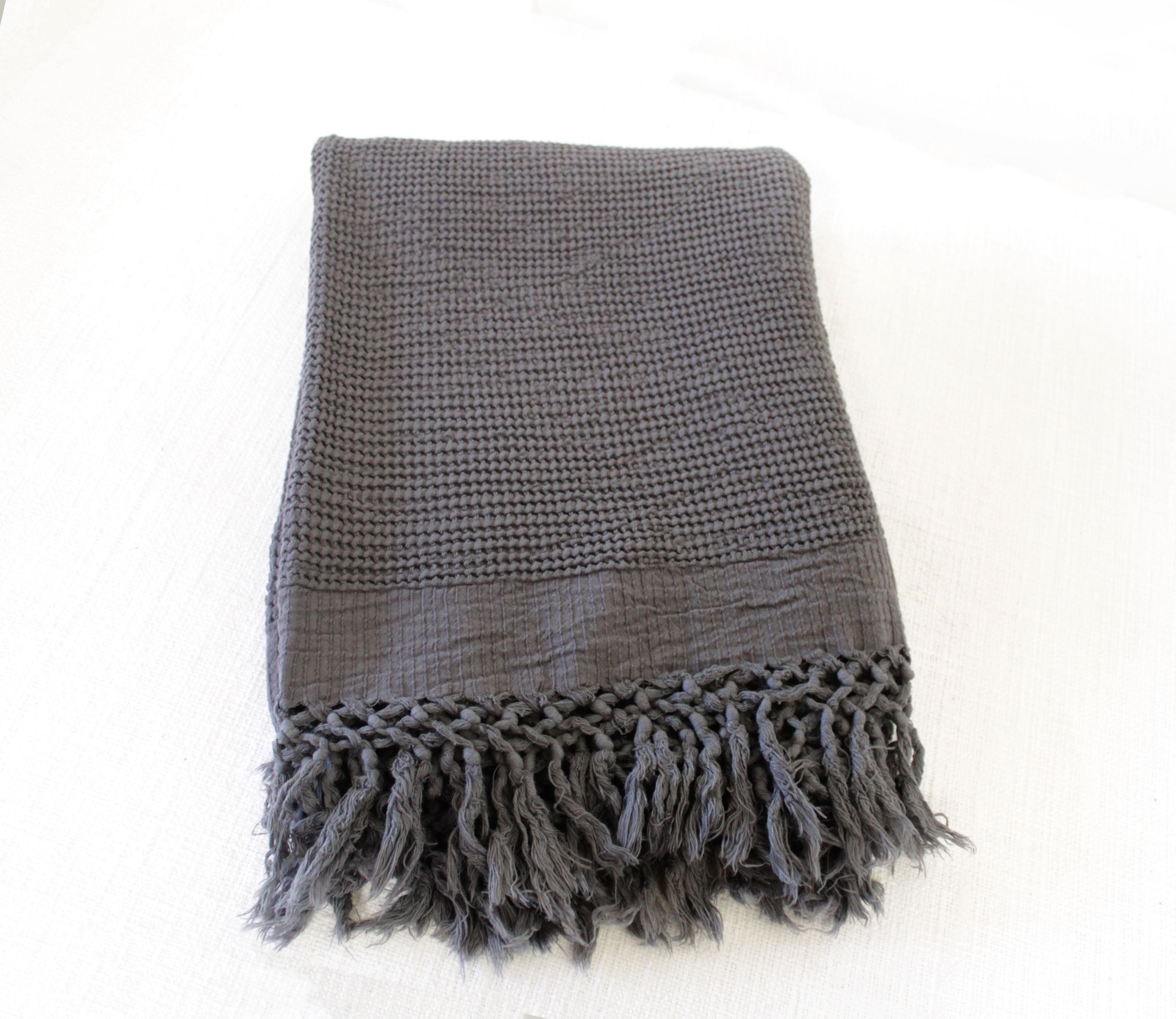 Bohemian Bamboo Throw Vintage Black