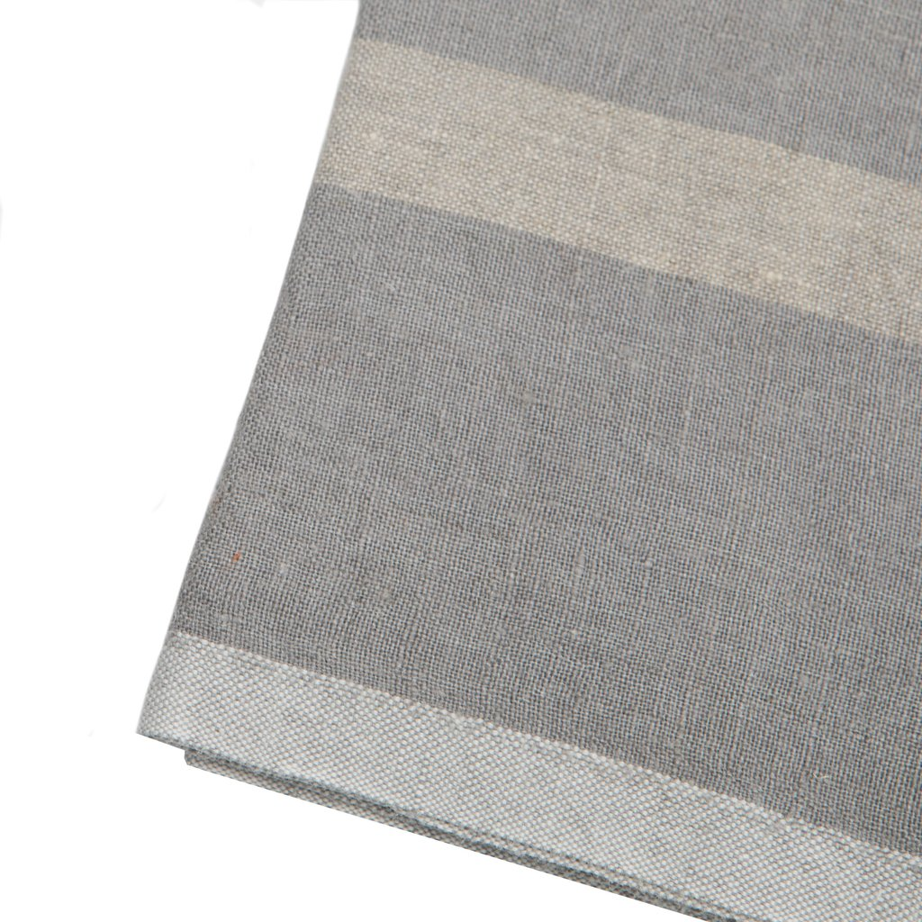 Grey/Natural Laundered Linen Towels S/2