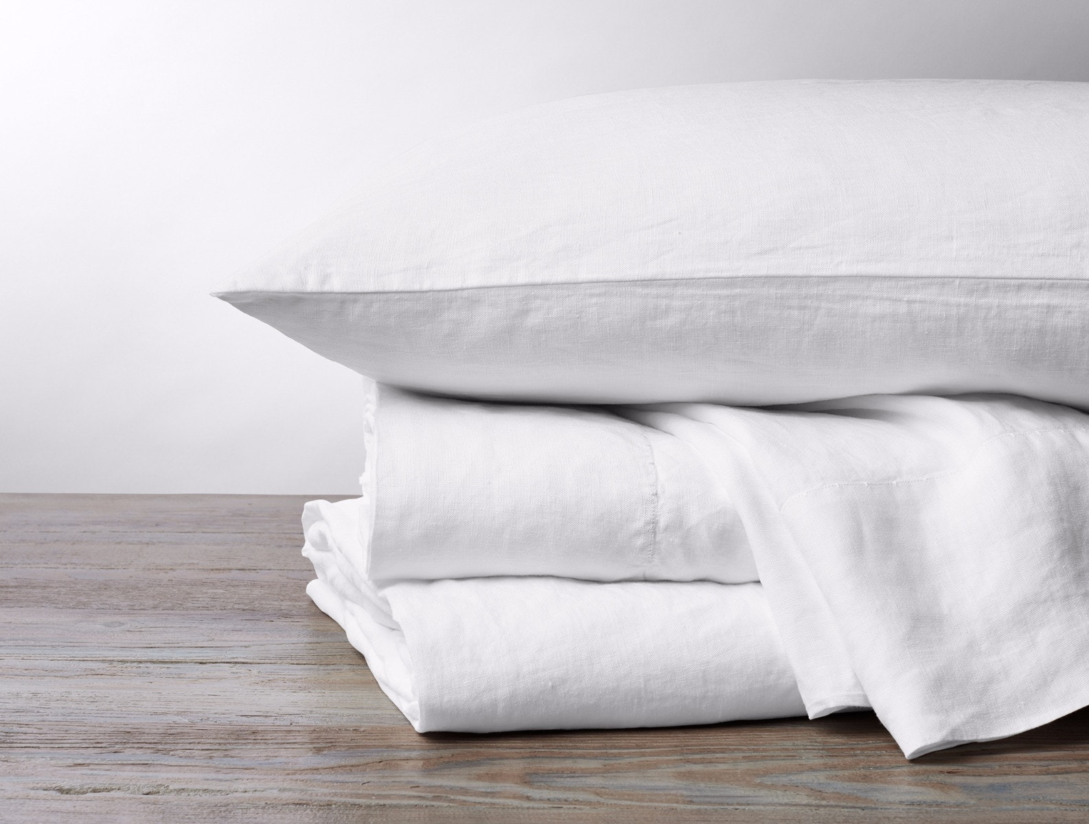 Organic Relaxed Linen Sheet Set in White