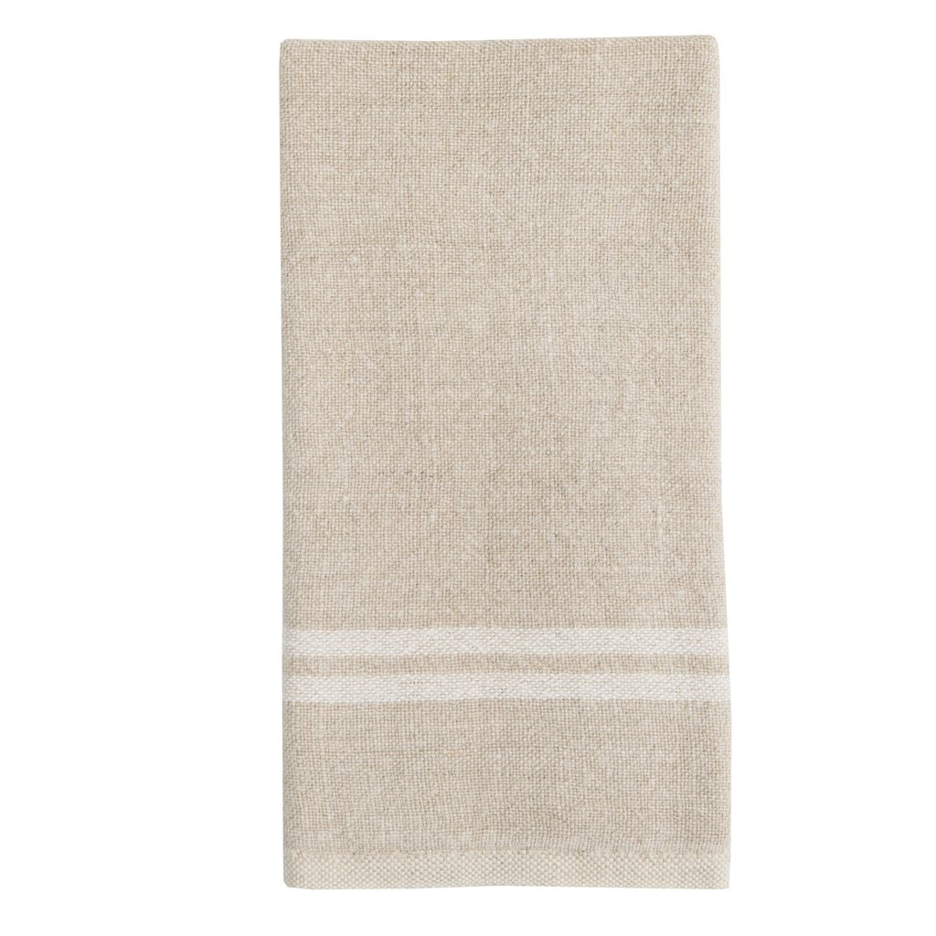 Natural/White Vintage Linen Towels S/2