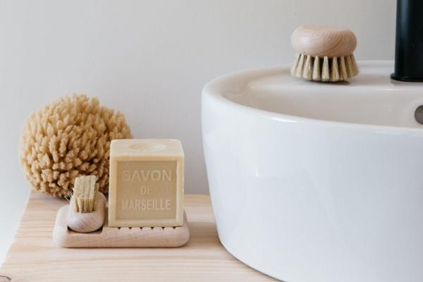 Cheval Beech Wood Nail Brush and Tray