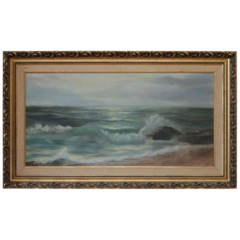 Vintage Ocean Oil Painting