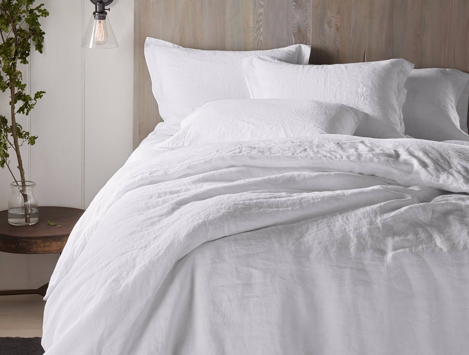 Organic Relaxed Linen Duvet Cover and Pillow Sham