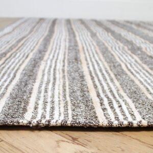 Vintage Turkish Flat-Weave Ramy Rug with Stripes