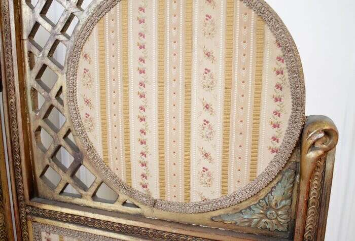 Vintage Decorative French Style Dressing Screen