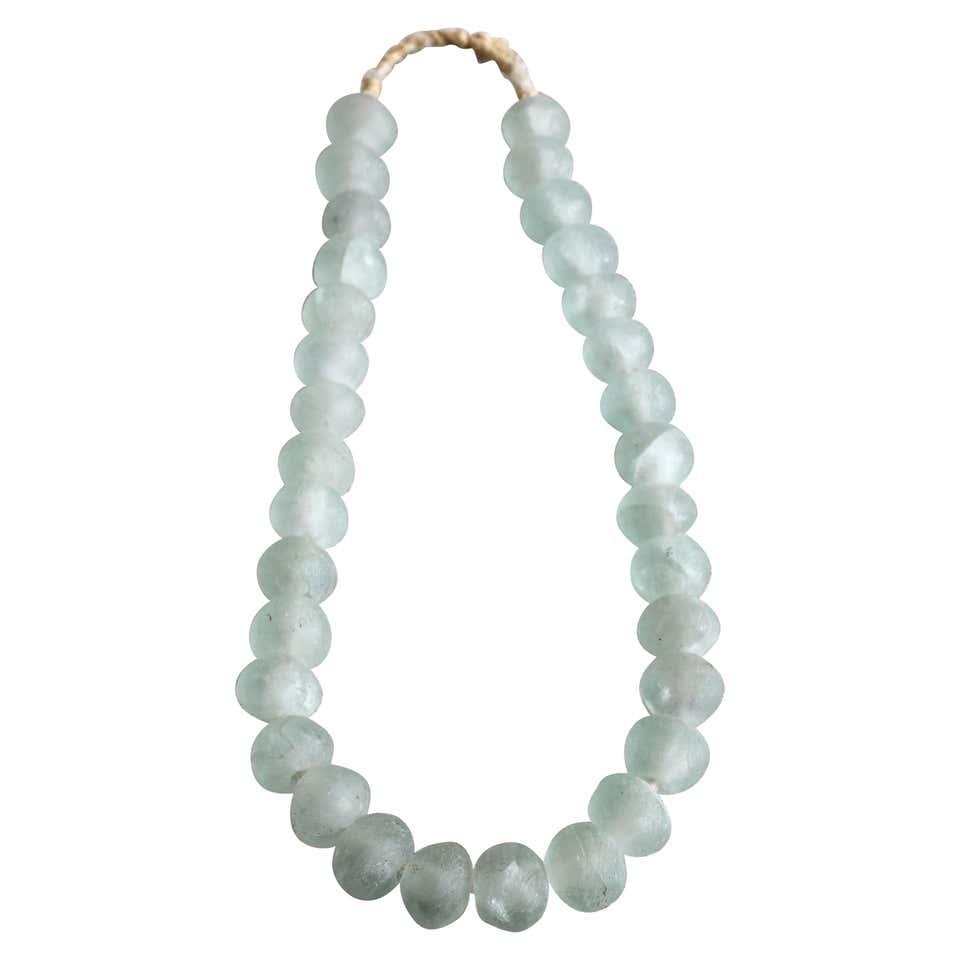 Light Sea Blue Glass Beads
