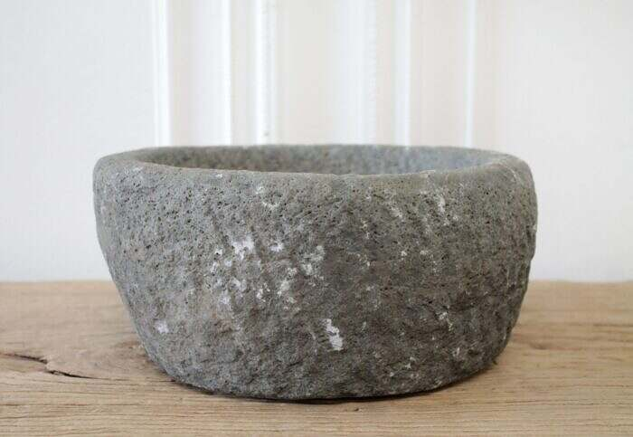 Antique Stone Mortar Bowl
