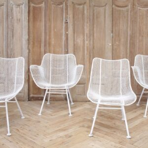 Set of 4 Mid Century Modern Russell Woodard Sculptura Chairs