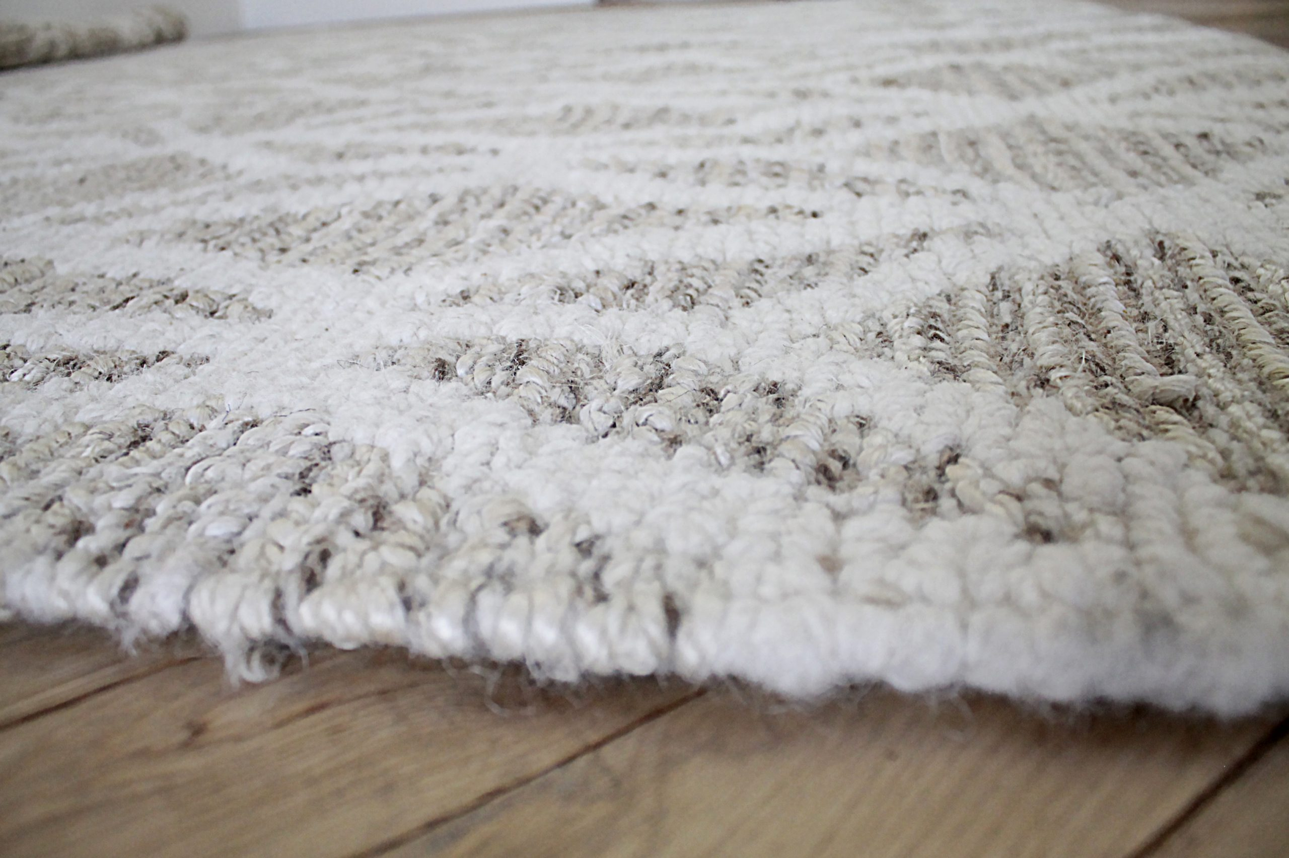 New Modern Wool and Natural Fiber Rug
